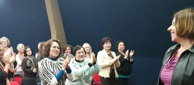 Plenaria Nº34 del Comites Chile: saludo a la P.ssa. Anna Mondavio despues de 4 años en IIC