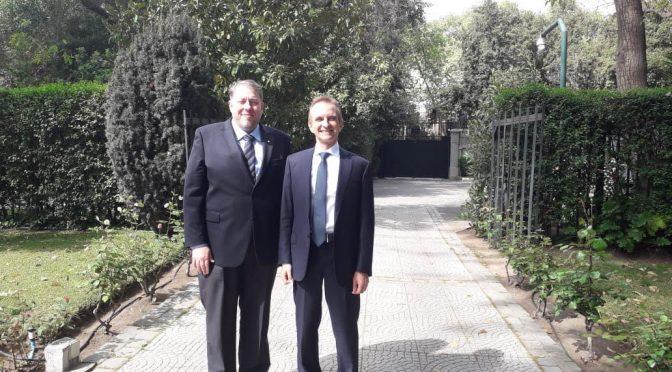 """Il Presidente del Comites Claudio Curelli incontra l'Ambasciatore Mauro Battocchi : """"Un Ambasciatore che lavora per le persone stando con la gente"""""""