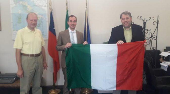 Onorevole Mario Borghese in visita in Cile