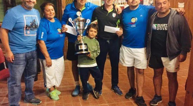 """El dúo del Club Humanitaria de Santiago Campeón en campeonato """"Mamma e Papo Falcon"""" de bochas"""