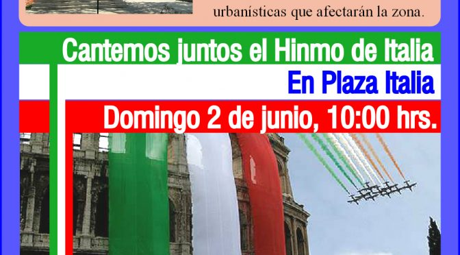 Plaza Italia 2019: Todos invitados a sostener nuestro Monumento