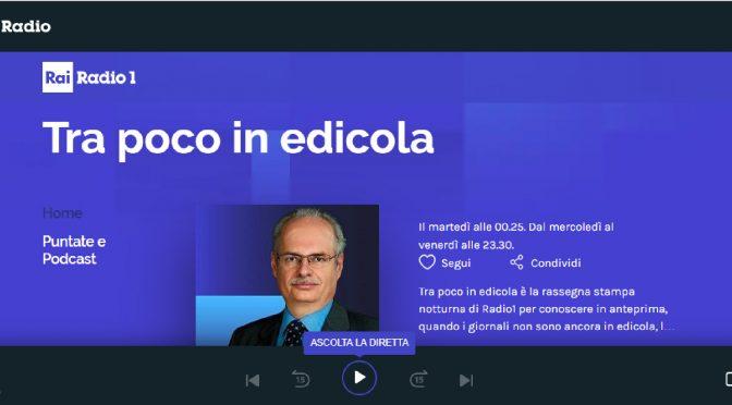 Radio XKÉ in diretta RAI RADIO 1: Tra poco in edicola, le radio italiane nel mondo