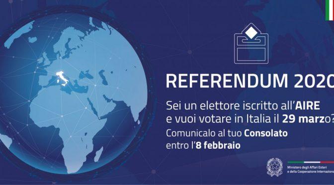 Nueva fecha para Referendum: 20-21 Septiembre 2020