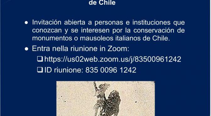 Monumentos Italianos en Chile: Encuentro telemático para conocer situación nivel País